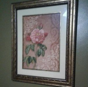 Vintage prints framed matted